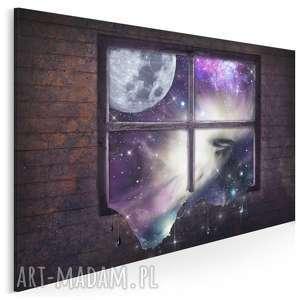 Obraz na płótnie - okno kosmos 120x80 cm 27901 vaku dsgn okno