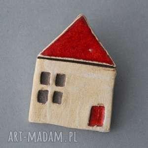 domek-broszka ceramiczna, minimalizm design, skandynawski, prezent praca, święta