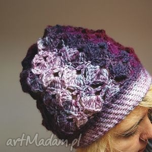 hand-made czapki czapa jesienna śliweczka