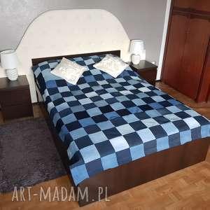 koce i narzuty #8 narzuta na łóżko dżinsowa vintage unikat, narzuta