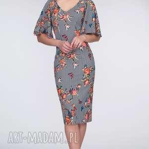prezent na święta, sukienka keira midi lukrecja, dopasowana, ołówkowa, ramiona, paski