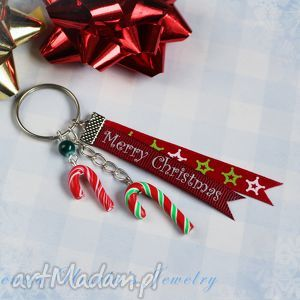 świąteczny brelok cukierkowy, brelok, świąteczny, święta, christmas, cukierki, candy