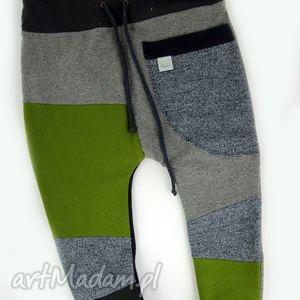 patch pants - eco dresik dziecięcy granatowo zielony, spodenki, niemowlęce, prezent