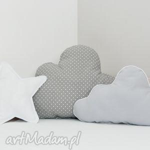 poduszka chmurka szara z biaŁĄ wypustkĄ - poduszeczka