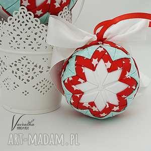 bawełniana bombka - ozdoba świąteczna, boże narodzenie