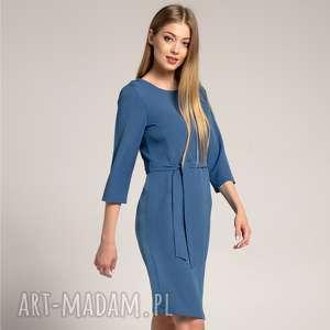 Sukienka Ołówkowa SARA Szmaragdowa, dopasowana-sukienka, prosta-sukienka