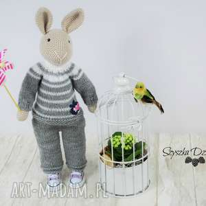 króliczek nino szydełkowa przytulanka, króliczek, maskotka, szydełko