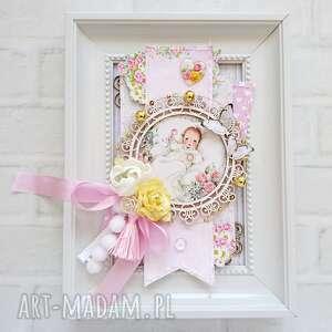 Made by Kate: ramka do pokoju dziecięcego różowa, dla dziecka, pokój dziecka, ozdobna