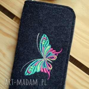 filcowe etui na telefon - motylek, smartfon, pokrowiec, futerał, motyl