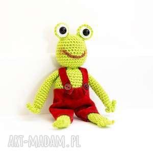 święta, pan żaba, maskotka, miś, żabka, szydełko, przytulanka