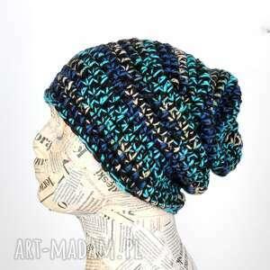ręczne wykonanie czapki 058 czapka wełna kolorowa beanie unisex