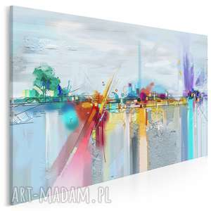 obraz na płótnie - abstrakcyjny kolorowy barwny 120x80 cm 88901, miasto
