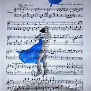 akwarela symfonia serc artystki plastyka adriany laube, akwarela, balon, sukienka