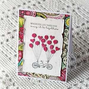 handmade scrapbooking kartki tandem i baloniki