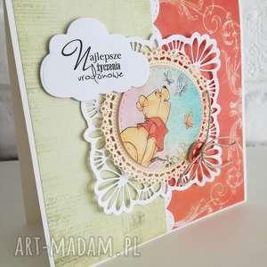 Prezent Kartka urodzinowa, urodziny, dziecko, prezent, kartka, kubuś, puchatek