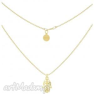 złoty naszyjnik z ręką fatimy, naszyjnik, złoty, fatima, łancuszek, modowy