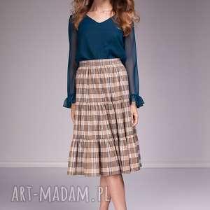 Spódnica Audrey, moda, krata