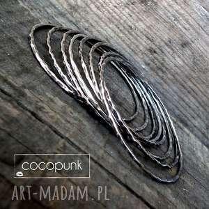 Bransoleta okrągła bangle - srebro cieńsza cocopunk bransoletka