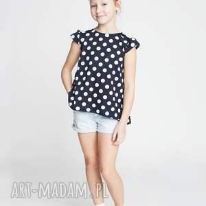 bluzka db16n, dziewczęca, bluzka, groszki, modna, elegancka, wygodna dla dziecka
