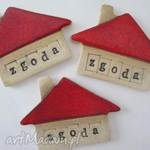 magnes domek zgoda, magnes, z, napisem, ceramiczny, walentynki, święta prezent