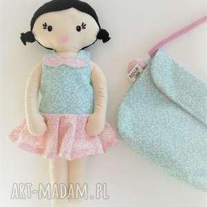 lalki mała lala - włosy czarne, lala, lalka, szmacianka, prezent, dziewczynka dla