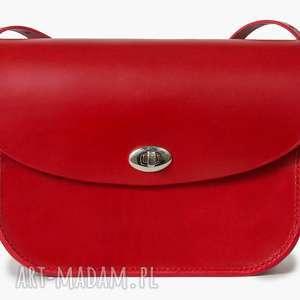 torebka skórzana piwonia czerwona, torebki