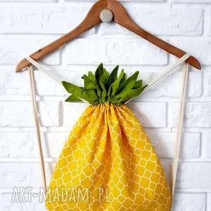 plecak-worek ananas, plecak, torba, worek, plecaczek, dziecko, wyjątkowy