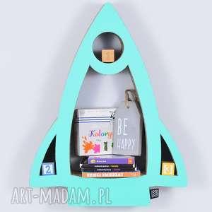 Półka na książki zabawki RAKIETA ecoono | miętowy, półka, chłopiec, dziewczynka