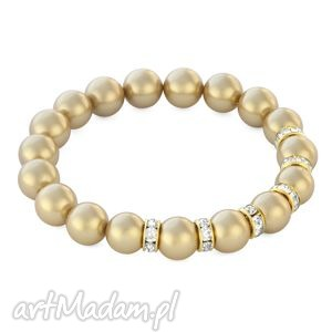 zircons & pearls - gold pearls - perła