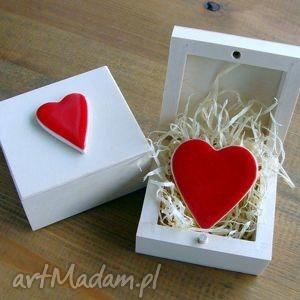 czerwone serduszko, walentynki, ślub, ślubne, romantyczne, serce, miłość ceramika