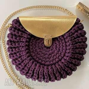 ręcznie wykonane na ramię torebka oreo szydełkowa handmade kolor