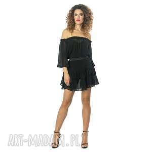 handmade sukienki jedwabna sukienka z falbanami