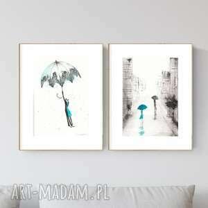 zestaw 2 grafik a4 wykonanych ręcznie, grafika czarno-biała, abstrakcja, zam