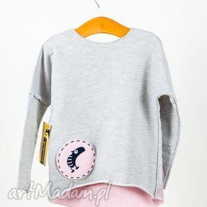 ubranka bluza kolorowe cięte plecy bawełniaka z 3 wymiennymi aplikacjami bawełniaków