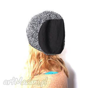 czapka damska w pepitkę - czapka, damska, dresowa, pepitka, szara, prezent