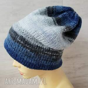 czapka oversize, zimowa z podwójnym rondem unisex duży rozmiar