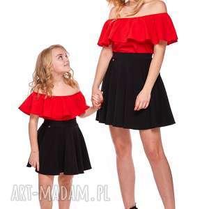 mama i córka bluzka hiszpanka dla córki ld9b/2, falbana, hiszpanka, mama