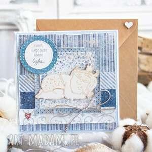 kartki przeurocza kartka dla dziecka w pudełeczku z szybką narodziny chrzest