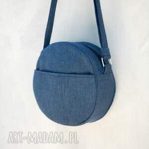 dotti - okrągła torebka na ramię granatowa, okrągła, listonoszka, pojemna