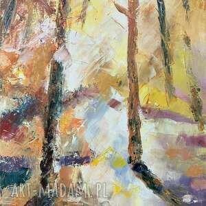 popołudnie w lesie obraz olejny
