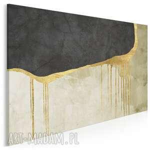 obraz na płótnie - abstrakcja wystawny złoto 120x80 cm 97901