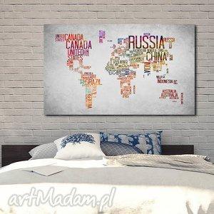 obraz xxl mapa świata 14 - 120x70cm na płótnie, obraz, mapa, świata, państwa