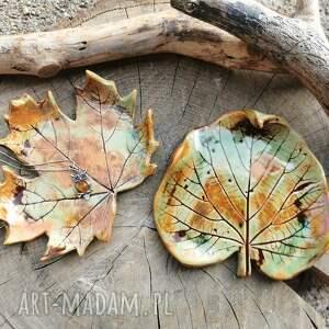 komplet ceramicznych talerzyków, liście c280, talerzyk, liście, ceramiczne