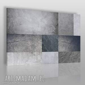 obraz na płótnie - beton minimalizm prostokąty 120x80 cm 73901, beton