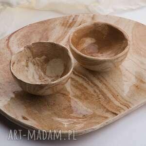 unikalny, patera i dwie miseczki, patera, komplet, ceramika, prezent