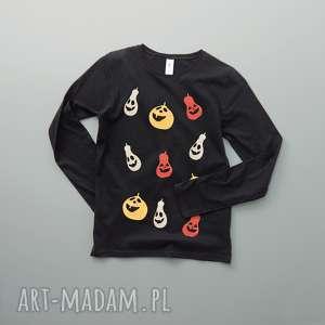 HALLOWEEN: HAPPY PUMPKINS bluzka damska, dynie, wesole, smieszne, halloween, rekaw