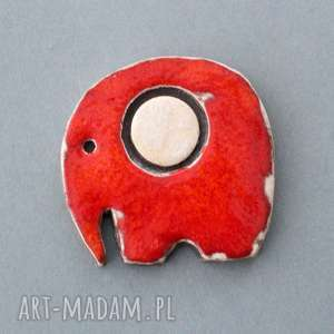 hand-made broszki szczęściarz-broszka ceramiczna