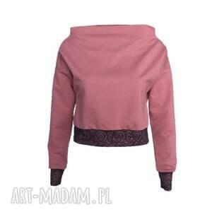 Bluza z koronką, bluza-z-koronką, różowa-bluza, koronka, róż-indyjski, różowa-bluzka