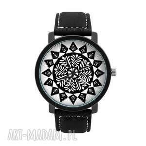 zegarek męski z grafiką czarna wycinanka, wycinaka, ludowy, folklor, oryginalny