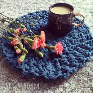 handmade podkładki okrągła podkładka na stół ze sznurka bawełnianego - model star